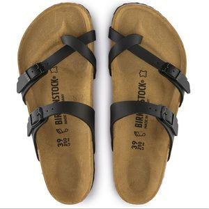 Black Birkenstock multi strap sandal